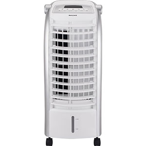 Honeywell CS074AE Portable Evaporative Cooler with Remote Control and Ice Pack, 200 CFM - 1.6 Gallon Tank (White)