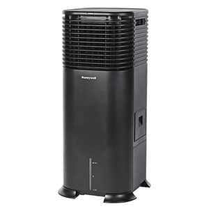 Honeywell DLC203AE Evaporative Tower Air Cooler with Humidifier, 500 CFM (Black)