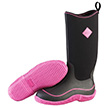Muck Boots Womens Hale Boot in Black/Hot Pink, HAW-404