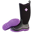 Muck Boots Womens Hale Boot in Black/Purple, HAW-500