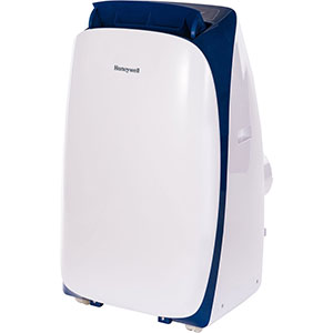 Honeywell HL10CESWB Portable Air Conditioner 10,000 BTU Cooling, with Dehumidifier & Remote (White-Blue)