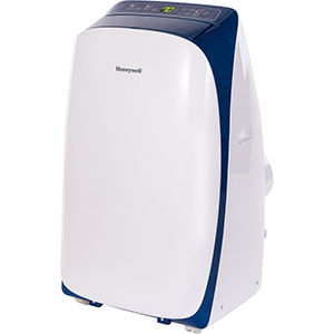 Honeywell HL12CESWB Portable Air Conditioner 12,000 BTU Cooling, LED Display, Single Hose (White-Blue)