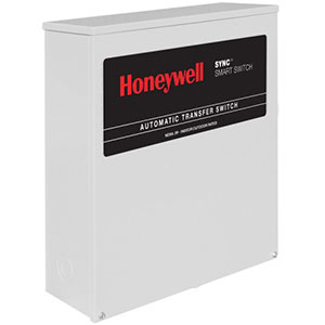 Honeywell RXSK100A3 Single Phase 100 Amp/240 Volt Sync Transfer Switch, Non Service-Rated