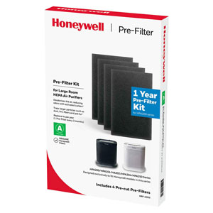 Honeywell HRF-A200 Pre-Cut Carbon Pre-Filter For HPA200 Series Air Purifiers - 4 Pack (Filter A)