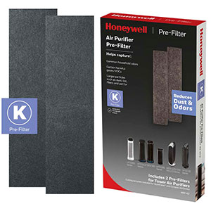 Honeywell HRF-K2 Household Odor & Gas Reducing Pre-filter (Filter K) - 2 Pack