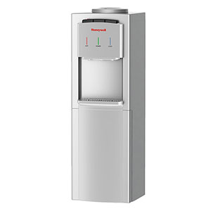 Honeywell 41-Inch Freestanding Toploading Water Cooler, Hot, Room & Cold Temperatures with Thermostat Control, Silver - HWB1033S2