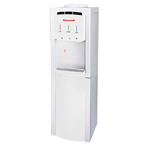 Honeywell 40-Inch Freestanding Toploading Water Cooler, Hot, Room & Cold Temperatures with Thermostat Control, White - HWB1033W2