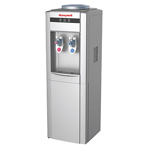 Honeywell 38-Inch Freestanding Toploading Water Cooler, Hot & Cold Temperatures with Thermostat Control, Silver - HWB1052S2