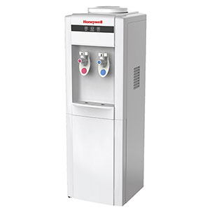 Honeywell 38-Inch Freestanding Toploading Water Cooler Dispenser, Hot and Cold Temperatures, White - HWB1052W2