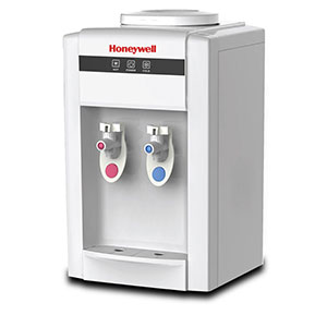 Honeywell 21-Inch Tabletop Water Cooler, Hot & Cold Temperatures with Thermostat Control, White - HWB2052W2