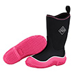 Muck Boots Kids Hale Outdoor Boot in Black/Pink, KBH-404
