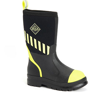 Muck Kid's Chore Boot, Black / Yellow - KCH-001