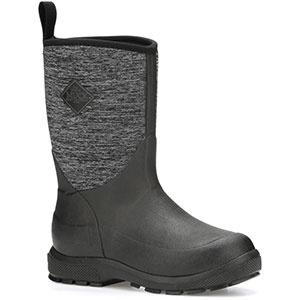 Muck Kid's Element 10 In Boot, Black / Heather Jersey - KEL-1JER