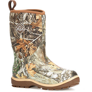 Muck  Kid's Element 10 In Boot, Realtree Edge/Bison - KEL-RTE