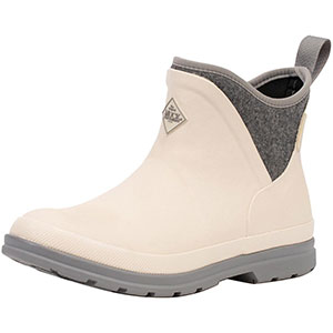 Muck Women's Originals Ankle Boot, White / Grey Wool - OAW-100
