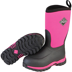 Muck Kid's Rugged II Boot, Pink / Black - RG2-400