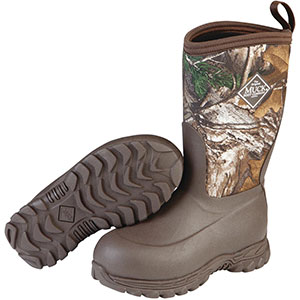 Muck Kid's Rugged II Boot, Brown / Real Tree Edge - RG2-RTE
