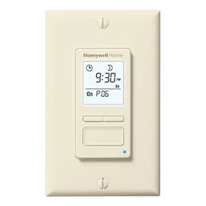 Honeywell RPLS741B1007/U ECONOSwitch 7-Day Solar Programmable Light Switch Timer
