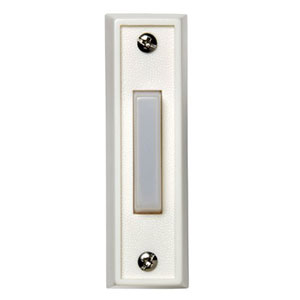 Honeywell RPW111A1002/A Wired Surface Mount Illuminated Push Button for Door Chime, White Finish