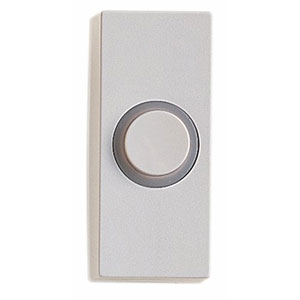 Honeywell RPW210A1002/A Wired Surface Mount Illuminated Push Button for Door Chime, White Finish
