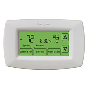 Honeywell Thermostats, 7-day programmable touch screen thermostat