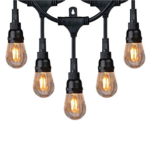 Honeywell 36 Foot Filament Style Amber LED String Light Set, SW136A221110