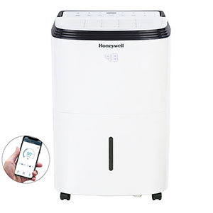 Honeywell Smart Wifi/Alexa Enabled 50-Pint Energy Star Dehumidifier, TP50AWKN