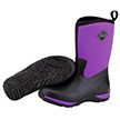 Muck Boots Womens Arctic Weekend Casual Boot in Black/Purple, WAW-500