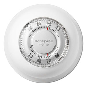 Honeywell YCT87N1006 The Round Heat/Cool Manual Thermostat